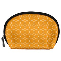 Yellow Circles Accessory Pouches (large)