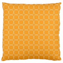 Yellow Circles Large Flano Cushion Case (two Sides) by Alisyart
