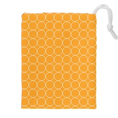 Yellow Circles Drawstring Pouches (xxl) by Alisyart