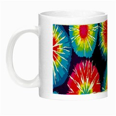 Tie Dye Circle Round Color Rainbow Red Purple Yellow Blue Pink Orange Night Luminous Mugs by Alisyart