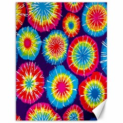 Tie Dye Circle Round Color Rainbow Red Purple Yellow Blue Pink Orange Canvas 12  X 16