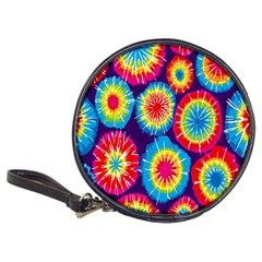 Tie Dye Circle Round Color Rainbow Red Purple Yellow Blue Pink Orange Classic 20 Cd Wallets