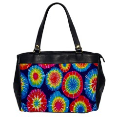 Tie Dye Circle Round Color Rainbow Red Purple Yellow Blue Pink Orange Office Handbags