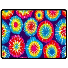Tie Dye Circle Round Color Rainbow Red Purple Yellow Blue Pink Orange Fleece Blanket (large)