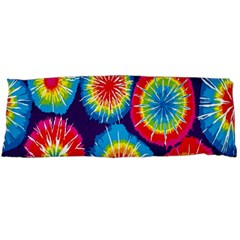 Tie Dye Circle Round Color Rainbow Red Purple Yellow Blue Pink Orange Body Pillow Case (dakimakura) by Alisyart