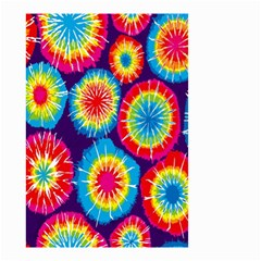 Tie Dye Circle Round Color Rainbow Red Purple Yellow Blue Pink Orange Small Garden Flag (two Sides) by Alisyart