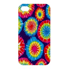 Tie Dye Circle Round Color Rainbow Red Purple Yellow Blue Pink Orange Apple Iphone 4/4s Premium Hardshell Case by Alisyart