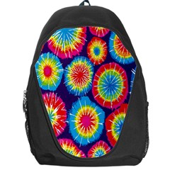 Tie Dye Circle Round Color Rainbow Red Purple Yellow Blue Pink Orange Backpack Bag by Alisyart