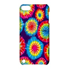 Tie Dye Circle Round Color Rainbow Red Purple Yellow Blue Pink Orange Apple Ipod Touch 5 Hardshell Case With Stand