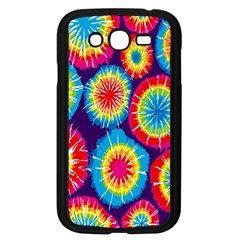 Tie Dye Circle Round Color Rainbow Red Purple Yellow Blue Pink Orange Samsung Galaxy Grand Duos I9082 Case (black) by Alisyart