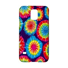 Tie Dye Circle Round Color Rainbow Red Purple Yellow Blue Pink Orange Samsung Galaxy S5 Hardshell Case  by Alisyart