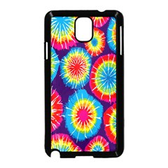 Tie Dye Circle Round Color Rainbow Red Purple Yellow Blue Pink Orange Samsung Galaxy Note 3 Neo Hardshell Case (black) by Alisyart