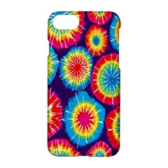 Tie Dye Circle Round Color Rainbow Red Purple Yellow Blue Pink Orange Apple Iphone 7 Hardshell Case by Alisyart