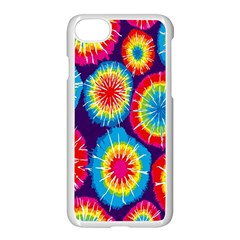 Tie Dye Circle Round Color Rainbow Red Purple Yellow Blue Pink Orange Apple Iphone 7 Seamless Case (white) by Alisyart