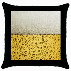 Water Bubbel Foam Yellow White Drink Throw Pillow Case (black) by Alisyart