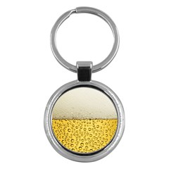 Water Bubbel Foam Yellow White Drink Key Chains (round)