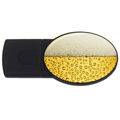 Water Bubbel Foam Yellow White Drink Usb Flash Drive Oval (2 Gb) by Alisyart