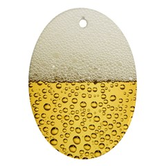 Water Bubbel Foam Yellow White Drink Oval Ornament (two Sides)