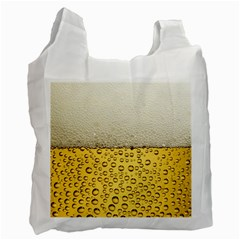 Water Bubbel Foam Yellow White Drink Recycle Bag (one Side) by Alisyart
