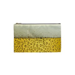 Water Bubbel Foam Yellow White Drink Cosmetic Bag (small)  by Alisyart