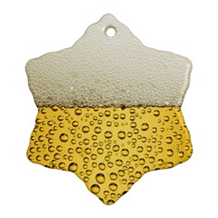 Water Bubbel Foam Yellow White Drink Snowflake Ornament (two Sides)