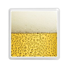 Water Bubbel Foam Yellow White Drink Memory Card Reader (square)  by Alisyart