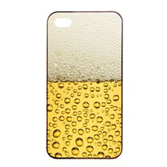 Water Bubbel Foam Yellow White Drink Apple Iphone 4/4s Seamless Case (black) by Alisyart