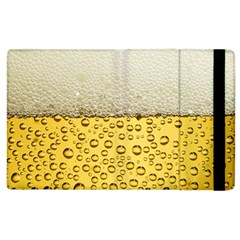 Water Bubbel Foam Yellow White Drink Apple Ipad 3/4 Flip Case by Alisyart