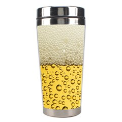 Water Bubbel Foam Yellow White Drink Stainless Steel Travel Tumblers by Alisyart