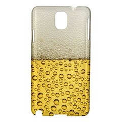 Water Bubbel Foam Yellow White Drink Samsung Galaxy Note 3 N9005 Hardshell Case by Alisyart