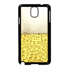 Water Bubbel Foam Yellow White Drink Samsung Galaxy Note 3 Neo Hardshell Case (black)