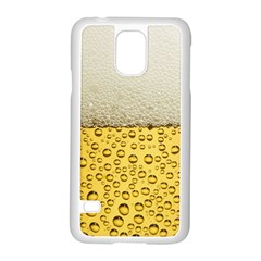 Water Bubbel Foam Yellow White Drink Samsung Galaxy S5 Case (white)
