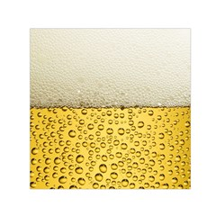 Water Bubbel Foam Yellow White Drink Small Satin Scarf (square)