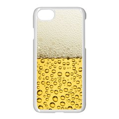 Water Bubbel Foam Yellow White Drink Apple Iphone 7 Seamless Case (white)