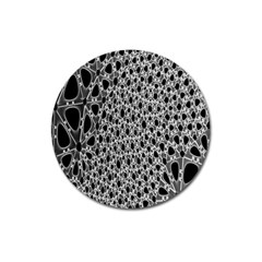 X Ray Rendering Hinges Structure Kinematics Circle Star Black Grey Magnet 3  (round) by Alisyart