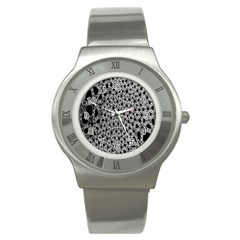 X Ray Rendering Hinges Structure Kinematics Circle Star Black Grey Stainless Steel Watch by Alisyart