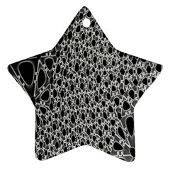 X Ray Rendering Hinges Structure Kinematics Circle Star Black Grey Star Ornament (two Sides) by Alisyart