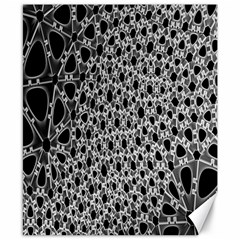 X Ray Rendering Hinges Structure Kinematics Circle Star Black Grey Canvas 8  X 10