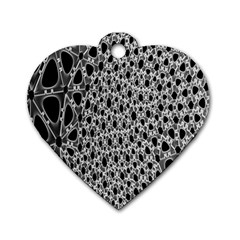 X Ray Rendering Hinges Structure Kinematics Circle Star Black Grey Dog Tag Heart (one Side) by Alisyart