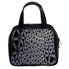 X Ray Rendering Hinges Structure Kinematics Circle Star Black Grey Classic Handbags (2 Sides)