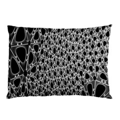 X Ray Rendering Hinges Structure Kinematics Circle Star Black Grey Pillow Case by Alisyart