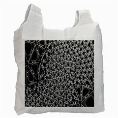 X Ray Rendering Hinges Structure Kinematics Circle Star Black Grey Recycle Bag (one Side) by Alisyart