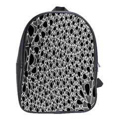 X Ray Rendering Hinges Structure Kinematics Circle Star Black Grey School Bags(large)  by Alisyart