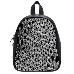 X Ray Rendering Hinges Structure Kinematics Circle Star Black Grey School Bags (small)  by Alisyart