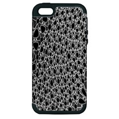 X Ray Rendering Hinges Structure Kinematics Circle Star Black Grey Apple Iphone 5 Hardshell Case (pc+silicone)