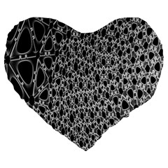 X Ray Rendering Hinges Structure Kinematics Circle Star Black Grey Large 19  Premium Heart Shape Cushions by Alisyart