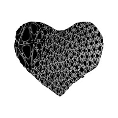 X Ray Rendering Hinges Structure Kinematics Circle Star Black Grey Standard 16  Premium Flano Heart Shape Cushions by Alisyart