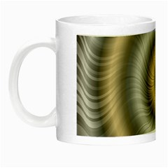 Prismatic Waves Gold Silver Night Luminous Mugs by Alisyart