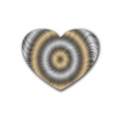 Prismatic Waves Gold Silver Heart Coaster (4 Pack)  by Alisyart