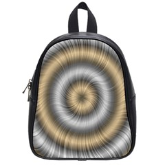 Prismatic Waves Gold Silver School Bags (small)  by Alisyart